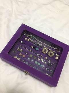 🔥$8🔥Purple Suede Jewellery Box