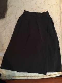 🚚 墨綠雪紡寬褲裙