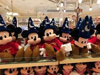 香港迪士尼樂園直購 魔法師米奇 絨毛玩偶 抱枕 Disney 幻想曲 MAGIC MICKEY 魔法米奇 公仔
