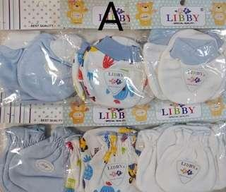 🚚 0-6 Wholesale Baby Mittens And Booties premium cotton Libby baby