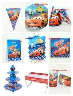 Full set! CARS party supplies