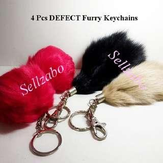 $10 For All ≈ 4 Pieces New Defect Furry Keychains Bundle Miscellaneous Misc