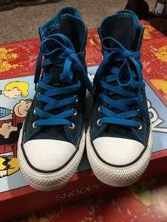 🚚 極新 Converse帆布鞋 湛藍 藍色鞋帶