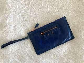 Balenciaga blue clutch, in excellent condition
