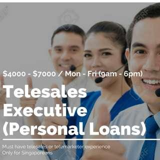 Tele Sales Executive (Personal Loans):