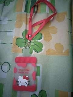 hello kitty card holder.. (lanyard)