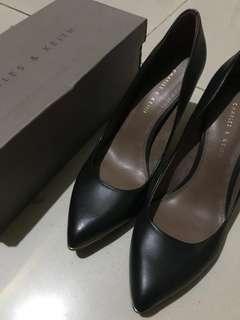 Charles & Keith Black with heels