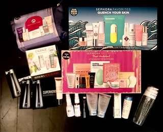 Sephora skin hair face beauty haul - Arcona, Clinique, Skin Inc, Fresh, Boscia, Origins, Estée Lauder