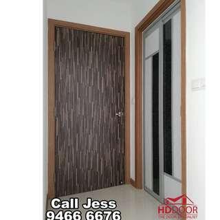 HDDoor the Laminate full soild Bedroom door and Slide & Swing toilet door with install