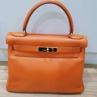 Hermes K28 Swift Orange with GHW