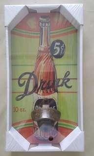 Vintage Board Display with bottle opener