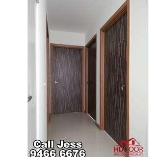 HDDoor the Laminate full soild wooden Bedroom door with install