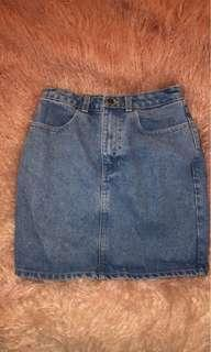 American Apparel Jean skirt!