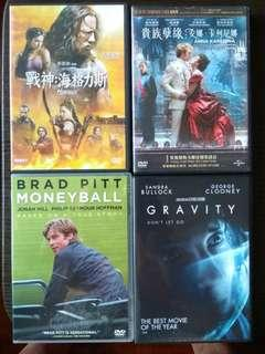 DVD Movie Package - $90 for 4 (有中文字幕)