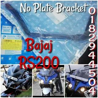 Front No plate bracket rs200, ns200, dominar400