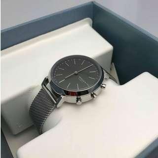 Skagen: Hybrid Smartwatch - Mini Hald Silver-Tone Steel-Mesh