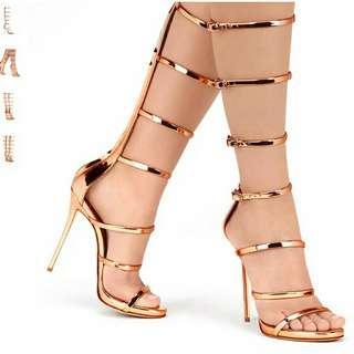 Sepatu gladiator high heels stiletto heels 11,5cm