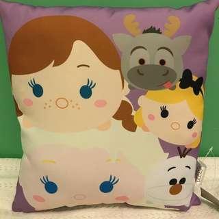 Frozen Tsum Tsum Cushion Purple 紫色 冰雪奇緣 迪士尼公主 咕𠱸