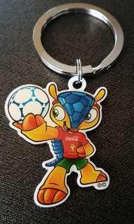 Coca Cola FIFA World cup 2014 Football Armadillo Mascot Keychain