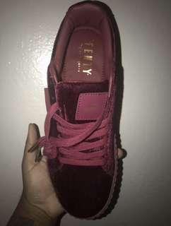 Puma casual shoe red velvet