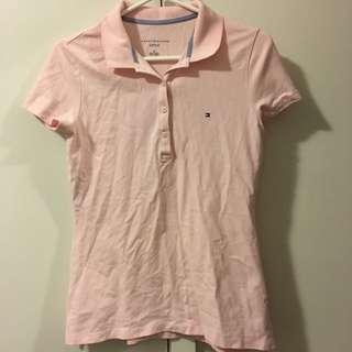 Baby pink Tommy Hilfiger short sleeved polo