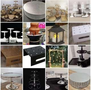 Cake and Cupcake stands FOR RENT