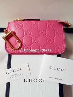 🌟RECEIPT🌟🌞AUCTION (Retail $599)▶️FOLLOWERS BENEFITS!!🌞❌Non Followers Buy Now @$599❌👜AUTHENTIC BRAND NEW👜GUCCI Rose Pink Key Purse/Wallet