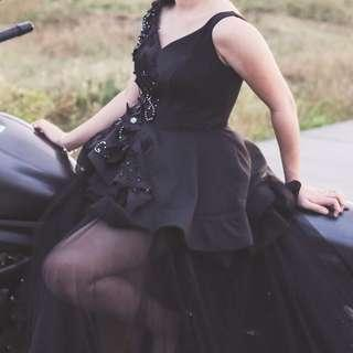 BLACK ENCHANTED GOWN