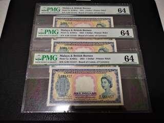 1953 Queeen victoria 1 dollar (3连号)