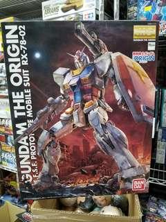 Bandai MG #201314 高達 Gundam RX-78-02 RX78 Gundam the origin 1/100 1:100