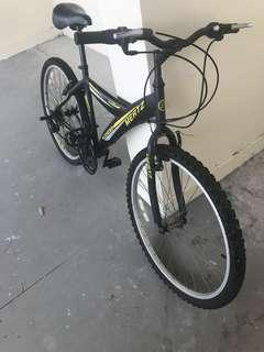 Mertz mountain bike with accessories