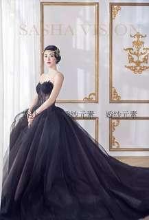Prom Dress bridal black gown