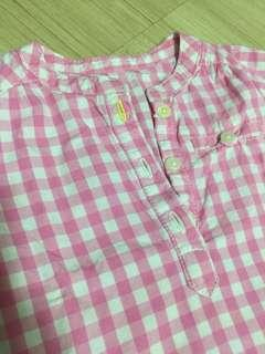CARTERS CHECKERED BLOUSE