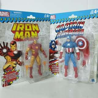 Marvel Legends Iron Man and Captain America