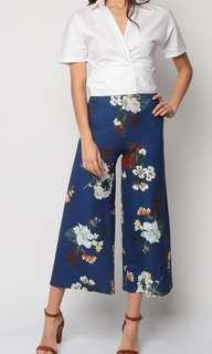 Floral Culottes (Navy)