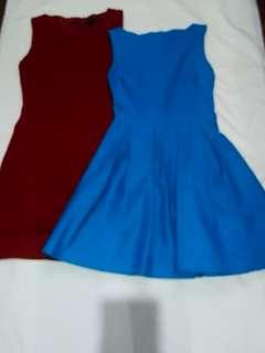Teal Blue and Red Dress Bundle