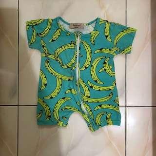 🚚 INS 歐美寶寶時尚短袖連身衣 90CM