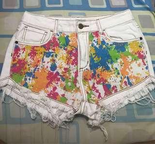 Vanilla Breeze Denim Shorts