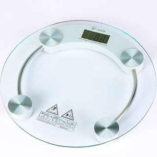 33 cm Diameter Digital Weighing Scale LCD Display Auto Average Max 180kg