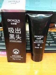 FreeOng BIOAQUA Charcoal Black Mask Masker Arang Masker Wajah