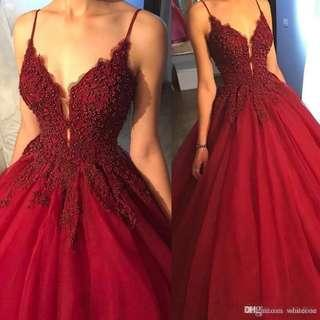For Rent: Red Gown with Long back