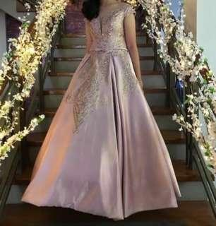 For Rent: Nude Pink Ball gown with Glittery Design