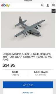 Dragon wings C-130H die cast