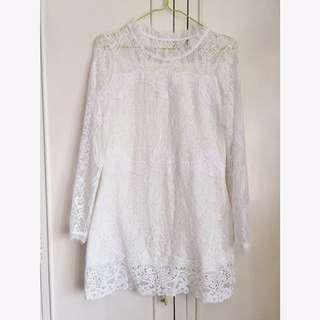 Soft Delicate Embroidered Lace Dress