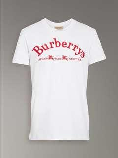 💎💯Authentic BURBERRY ARCHIVE LOGO TEE, UNISEX💎