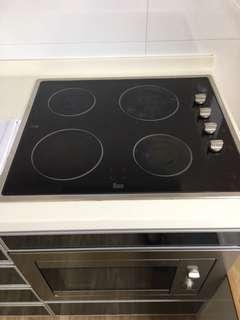 Cooker build in hob 4 burner ceramic