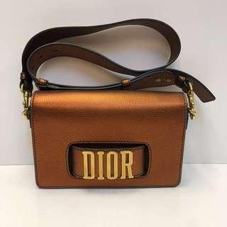 🈹Christian Dior Metallic Brown Leather Shoulder Bag(Brand New)