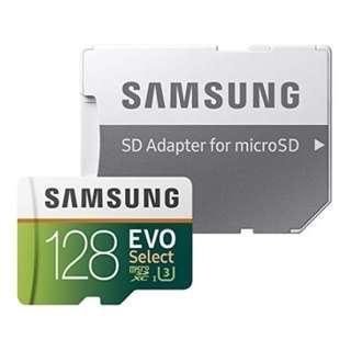 🚚 Samsung 128GB 100MB/s (U3) MicroSD EVO Select Memory Card with Adapter (MB-ME128GA/AM)