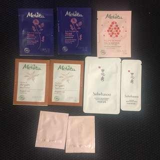 Melvita shu uemura sulwhasoo samples