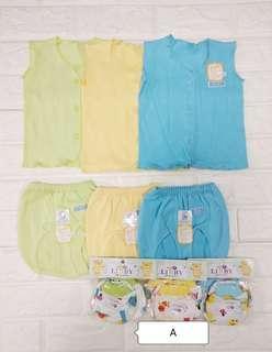 🚚 100% cotton Newborn baby wear set